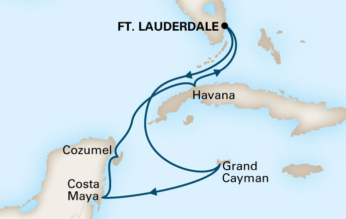 Holland America Cruises to Cuba Itinerary 1