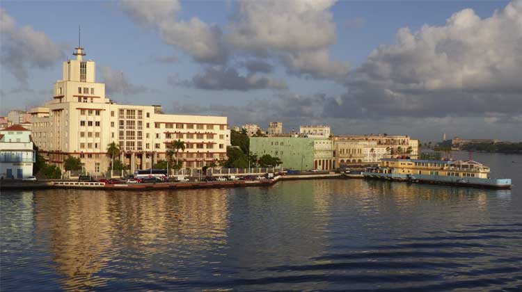 Sunset in Havana Bay Cuba Cruising