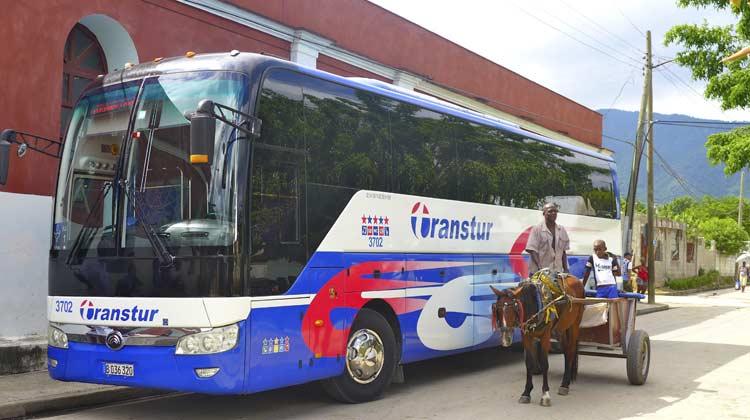 Cuba Transtur Bus El Cobre Cruising to Cuba