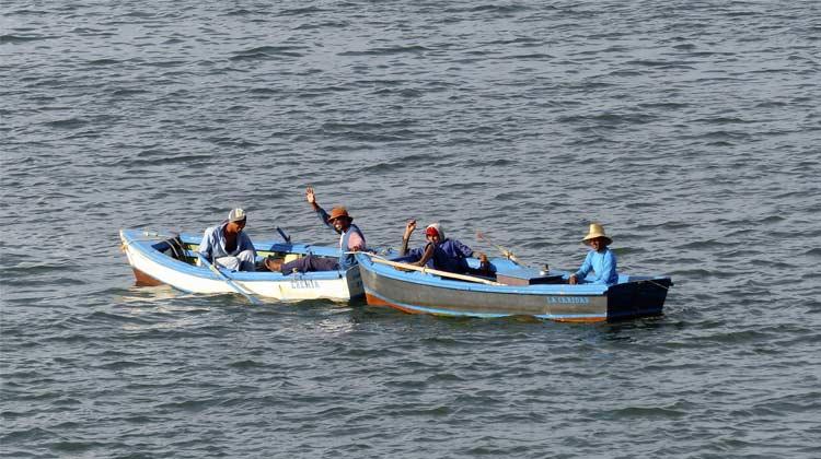Fishermen in Bay of Santiago de Cuba