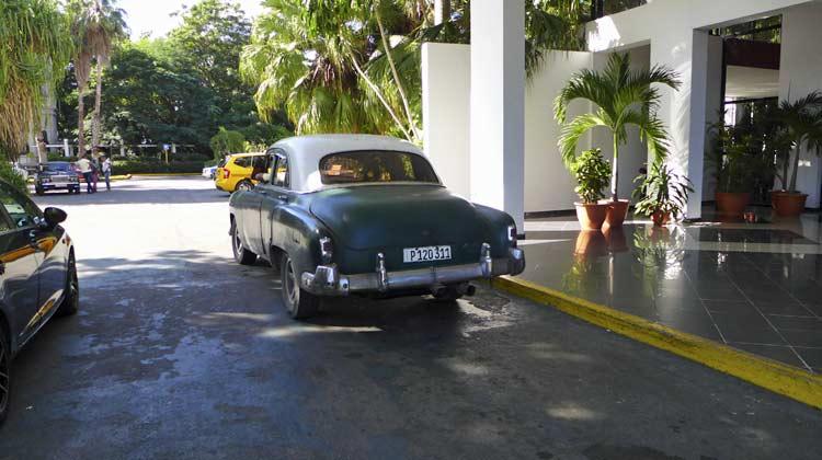 Hotel Jagua Driveway Cienfuegos Cuba Cruise Excursion
