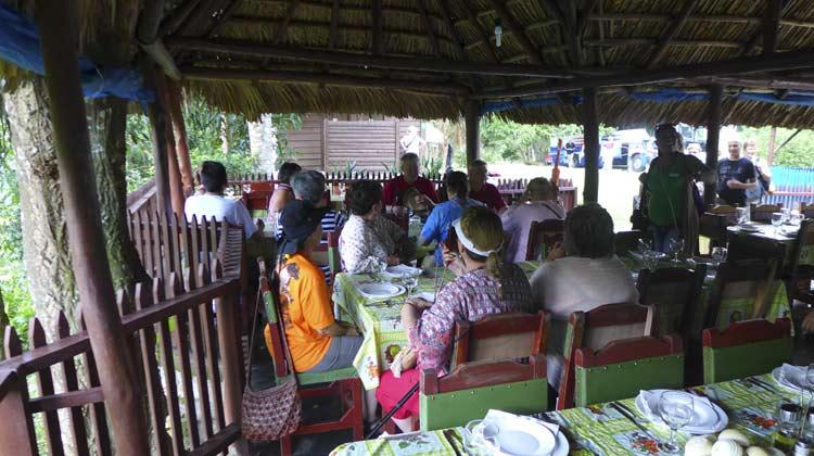 Lunch at Las Terrazas Cuba