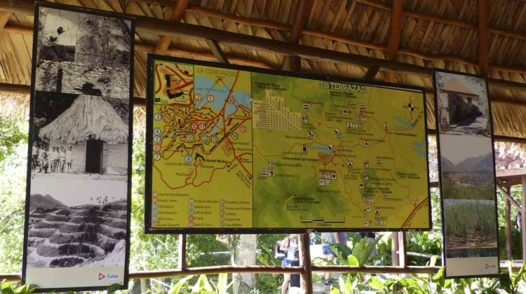 Map of Las Terrazas Cuba Cruise Excursion to Las Terrazas