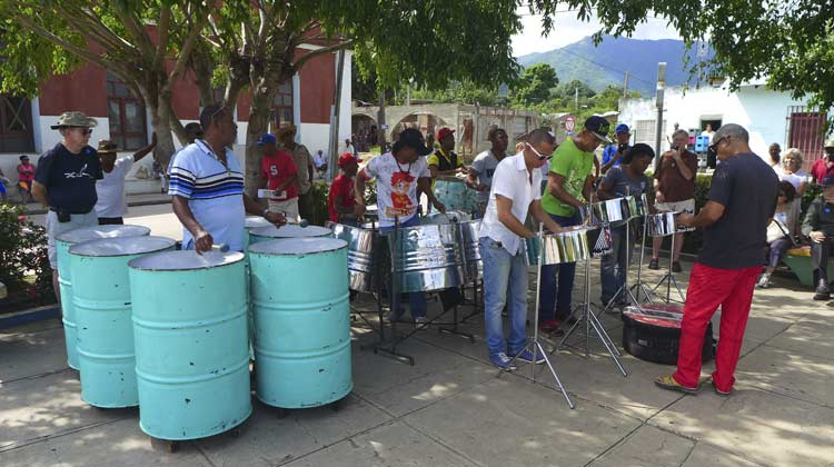 Steel Band del Cobre performing Cuba Cruise Excursion