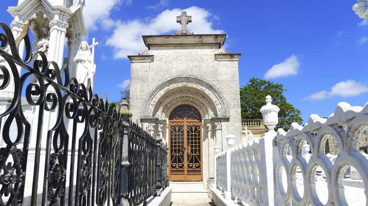 Tomb of Floridita Bartender Colon Cemetary Cruising to Cuba