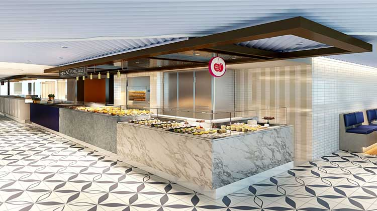 Bakery and Patisserie on board Virgin Voyages