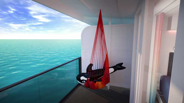 Virgin Voyages Hammock on Sea Terrace